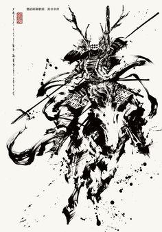 墨絵師を生業として、戦国武将や霊獣・納豆などを描いています。 フォローしていただけると嬉しいです。@sumieokazu