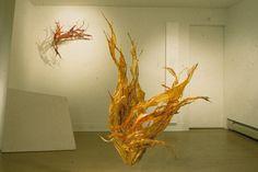 Debra Weisberg_ brass wire and gut