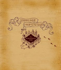 Frugal Harri Potter Marauders Map Mini Version Collectible Retro Parchment Map New Cosplay Props Novelty & Special Use Costume Props