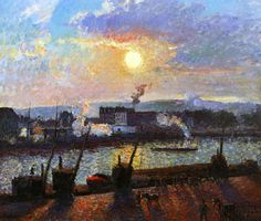 Camille Pissarro, Sunset Rouen, 1898. Professional Artist is the foremost business magazine for visual artists. Visit ProfessionalArtistMag.com.- www.professionalartistmag.com.