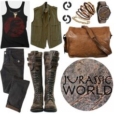 Jurassic World by mockingjayafire on Polyvore featuring Madewell, VIPARO, Bling Jewelry and Dot & Bo