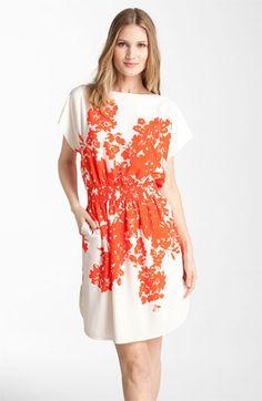 Eliza J Print Crêpe de Chine Dress