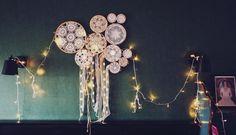 Ücretsiz Kargo Dream Catcher Set Led Işık Dizeleri Ile Dekore El Yapımı Ins Odası Duvar Sanatı Shabby Chic Kreş Odası Asma