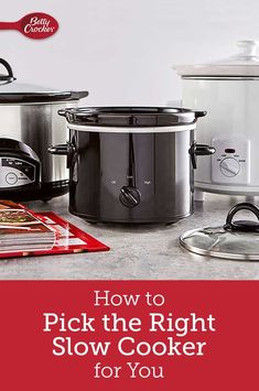 With so many brands and sizes of slow cookers out there, it can be hard to pick the right one for you and your cooking needs. We've got the intel on which is perfect for your kitchen, and how to keep it in tip-top shape so it lasts for years to come. Crockpot Recipes, Yummy Recipes, Cooking Recipes, Yummy Food, Small Slow Cooker, Cheesy Recipes, Cookers, Food Safety