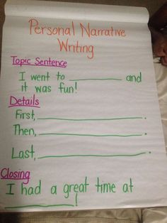 Personal Narrative Writing First Grade Writer's Workshop Anchor Chart for Mi. - Personal Narrative Writing First Grade Writer's Workshop Anchor Chart for Mi… – Using Graphs in addition to Topographical Road directions Narrative Anchor Chart, Personal Narrative Writing, Writing Anchor Charts, Personal Narratives, Anchor Charts First Grade, Narrative Writing Prompts, Writing Sentences, Procedural Writing, Paragraph Writing