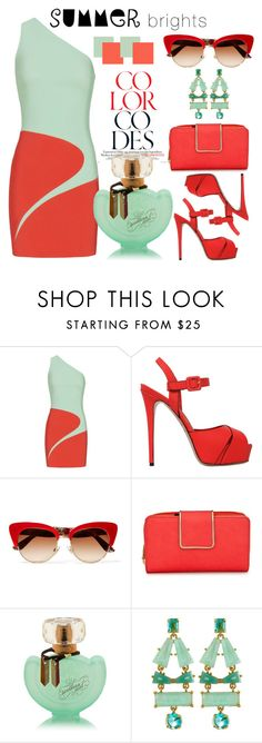 """""""Summer Brights"""" by pixidreams ❤ liked on Polyvore featuring Thierry Mugler, Le Silla, Dolce&Gabbana, New Directions, Kate Spade and summerbrights"""