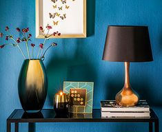 Autumn/Winter Warm, glamorous interior inspiration rich blue, golds, coppers, teals