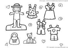 paper doll coloring pages - Google Search