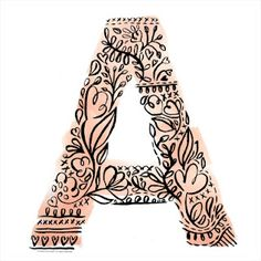 Cool illustrated letter prints.