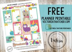 Free Printable Unicorn Wannabes Planner Stickers from Victoria Thatcher