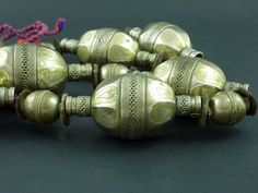 Turkoman silver beads necklace Tekke jewellery by ethnicadornment