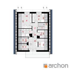 Projekt domu Dom pod hikorą 3 - ARCHON+ Architectural House Plans, Dream House Plans, Floor Plans, How To Plan, Architecture, Home, Houses, Arquitetura, Ad Home