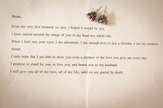 sweetest love letter from wife to husband, on their wedding day...