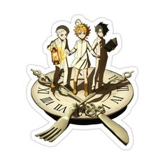 Decorate laptops, Hydro Flasks, cars and more with removable kiss-cut, vinyl decal stickers. Glossy, matte, and transparent options in various sizes. Super durable and water-resistant. Emma, Ray and Norman Trio! From Yakusoku no Neverland, The Promised Neverland Anime & Manga. Tumblr Stickers, Anime Stickers, Kawaii Stickers, Cute Stickers, Anime Merchandise, Journal Stickers, Aesthetic Stickers, Printable Stickers, Neverland