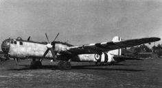Captured German HE177 in British markings...