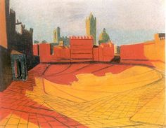 Louis Kahn's drawing of the Piazza del Campo in Siena, Italy (1950-51)