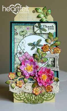 Heartfelt Creations | Water Lily Thank You Tag