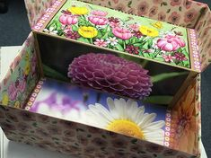 """Shoebox covered with """"Duck Tape"""" and calendar pictures inside. Calendar Pictures, Operation Christmas Child, Duck Tape, Shoe Box, Kids Christmas, Charity, Decorative Boxes, Decorating, Children"""