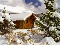 canada winter cabins - We will spend a winter in a log cabin in the Canadian Rockies Small Log Cabin, Cozy Cabin, Winter Cabin, Winter Trees, Snow Cabin, Snow Trees, Winter Mountain, Cozy Winter, Canada Winter