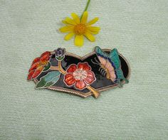 Vintage Floral Heart Bolo Charm for  Bolo Tie - Cowboy Necktie - Butterfly - FREE Shipping