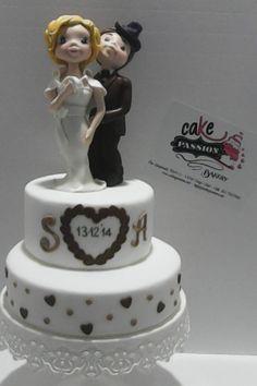 Lovers Cake for a Wedding - Torta innamorati per un matrimonio