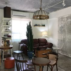 부산 카페투어 2 - 프루티, 프리퍼컬러, 누쏨므, 베이커스, 오롯분식당, 러버커피 : 네이버 블로그 Cafe Interior Vintage, Bar Interior, Interior And Exterior, Interior Design, Cafe Design, House Design, Pastel Decor, Build Your Own House, My Room