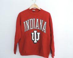 Vintage Indiana University Crewneck Sweatshirt by WildKardVintage, $34.95