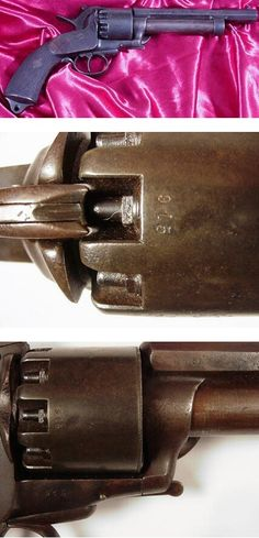 """The LeMat """"grapeshot"""" revolver was a highly prized sidearm among Confederate officers. There were less than 3,000 made for the Confederacy. It was a very high quality firearm and delivered an unprecedented amount of firepower. Having 9 .42 caliber charges rotating around one 20 gauge shotgun barrel. The hammer could be converted from striking the revolving pistol caps to striking the central shotgun cap with the flick of a thumb. A truly formidable weapon indeed! The weapon offered here is…"""