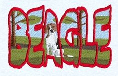 Beagle Scene - 5x7 | Tags | Machine Embroidery Designs | SWAKembroidery.com Starbird Stock Designs