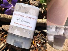 NEW! VICTORIOUS Contour Cream- Use on Eyes, Cheeks and Lips! All Natural and Vegan Friendly. by AddictiveCosmetics on Etsy