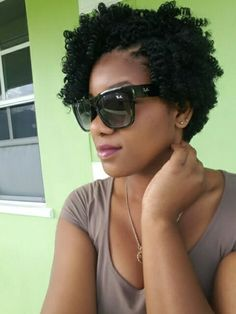 Short tapered cut crochet braid I used one pack of expression braid...