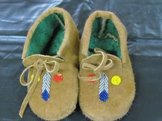 NATIVE AMERICAN MOCCASINS,5 INCHES