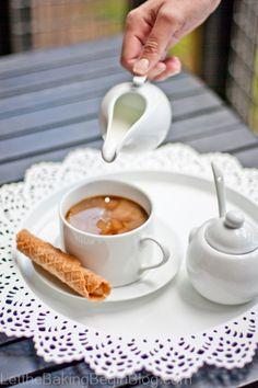 Light & Crispy Waffles, filled w/ Dulce de Leche Filling   Click for Recipe   Let the Baking Begin Blog. com