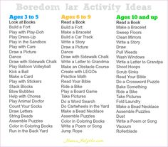 10 Boredom Jar Ideas Boredom Bored Jar Activities For Kids