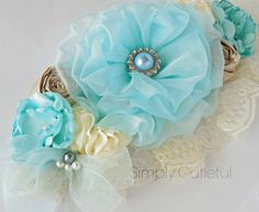 Blue Maternity Sash Maternity Photo Prop. by simplycutieful