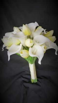Tulip Bouquet Discover Yellow tulip and calla lily bouquet real touch bridal bouquet customizable real touch artificial flowers Yellow tulip and calla lily bouquet real touch by DressMyWedding Tulip Bouquet Wedding, Calla Lily Wedding, Calla Lily Bouquet, Calla Lilies, Prom Bouquet, Calla Lily Boutonniere, White Tulip Bouquet, Yellow Bouquets, Gardens