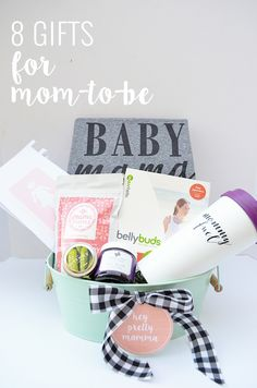 8 Great Gifts For Pregnant Mommas + Free Printable Tags - Baby Party - Pregnancy Gifts Best Friend Gifts, Gifts For Friends, Gifts For Mom, Great Gifts, Awesome Gifts, Awesome Mom, Baby Shower Gifts, Baby Gifts, Baby Presents