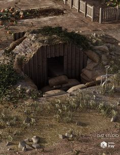 Download DAZ Studio 3 for FREE!: DAZ 3D - WW2 Anderson Shelter