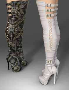 Jan 2018 - Amelia High Boots for Genesis 3 Female(s) is a footwear, glamour for Genesis 3 Female for Daz Studio or Poser created by Arryn and Onnel. Thigh High Boots Heels, Hot High Heels, Platform High Heels, Knee Boots, Heeled Boots, Shoes Heels, Pumps, Red Heels, Looks Rihanna
