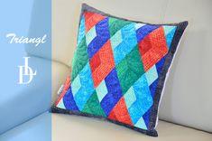 Šití patchworkového polštáře podle pravítka Triangl.