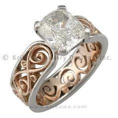 Modern Engagement Rings Gold 22