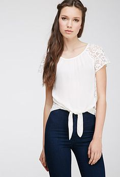 Lace Paneled Top | Forever 21 | #thelatest