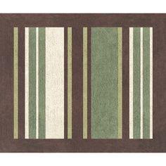 Sweet JoJo Designs Green and Brown Ethan Modern Cotton Floor Rug