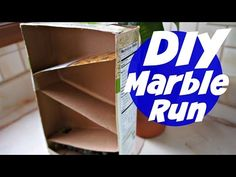 How to Make a Cereal Box Marble Run Force And Motion, Cereal, Recycling, Marble, Science, Paper, Box, Simple, How To Make