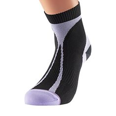 1000 Mile Racer Womens MidHeight Running Socks  AW16  Medium  Black -- Click on the image for additional details.