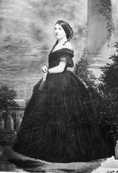 """Portrait of Harriet Lane, circa 1860s. Harriet Lane was the first """"acting First Lady"""" to her uncle, life-long bachelor, President James Buchanan."""