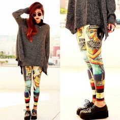 Black Milk Egypt legs & sweater = omg i need this in my life
