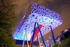 OCAD U's Sharp Centre for Design at night, by John Vetterli, via Flickr