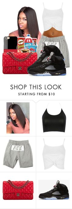 """""""Possible Jamboree Outfit """" by shamyadanyel ❤ liked on Polyvore featuring Iphoria, Topshop, Chanel and NIKE"""