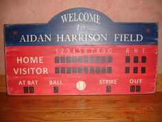 Sports Scoreboard Custom Rustic Board Sign  by MyRusticBoardSigns, $250.00